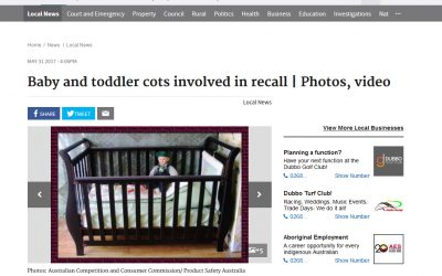 Baby and toddler cots involved in recall