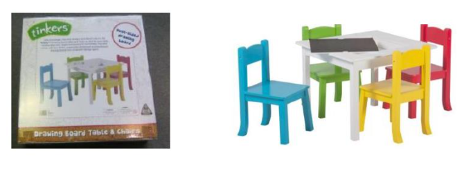 Product Recall – Big W — Tinkers Drawing Board Table & Chairs